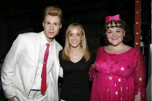 Photo Coverage Exclusive: Olympic Gold Medalist Liukin Visits 'Hairspray'