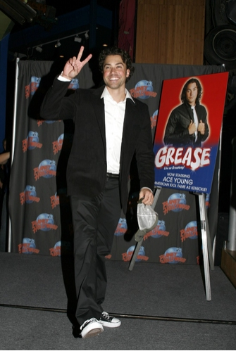 Photo Coverage: Ace Young Celebrates 'Grease' Debut; Donates T-Bird Jacket to Planet Hollywood