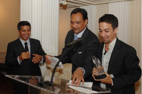 Esai Morales, Jimmy Smits and Lin-Manuel Miranda