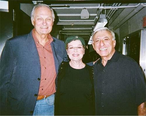 Alan Alda with Flamingo Court stars Anita Gillette and Jamie Farr
