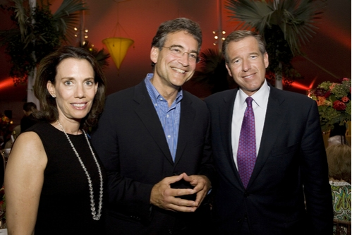 "From left, guests at Westport Country Playhouse gala Jane Williams, Dr. Jay Meislich and Brian Williams, host of ""NBC Nightly News."""
