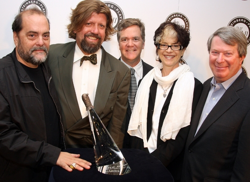 Eduardo Machado, Oscar Eustis, Marc Masterson, Martha Lavey and Andr�'© Bishop Photo