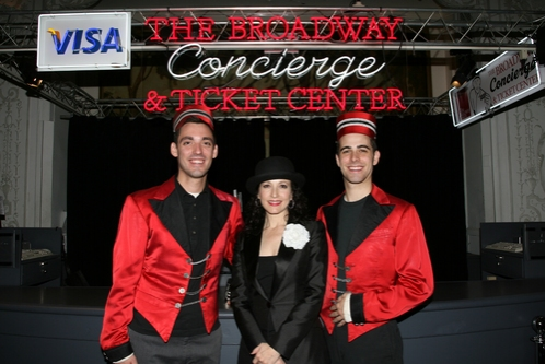 Bebe Neuwirth with the Staff of the Concierge and Ticket Center