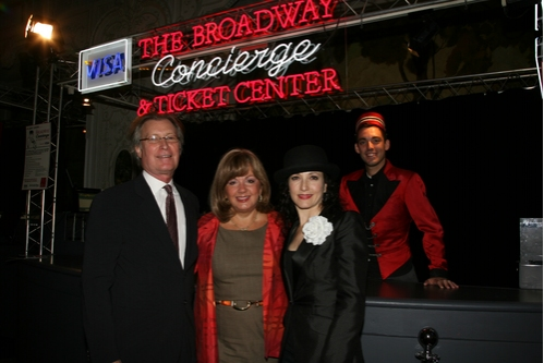 George Fertitta, CEO of NYC and Company, Charlotte St. Martin, Executive Director of The Broadway League and Bebe Neuwirth
