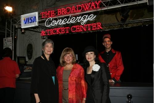 Nina Lannan, chair of the Broadway League, Charlotte St. Martin, Executive Director of The Broadway League and Bebe Neuwirth