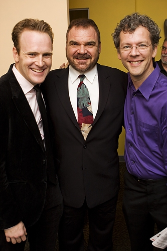 Jared Bradshaw, Gerard Alessandrini and David Caldwell at 'Forbidden Broadway Goes to Rehab' Has A Joyous Opening Night!