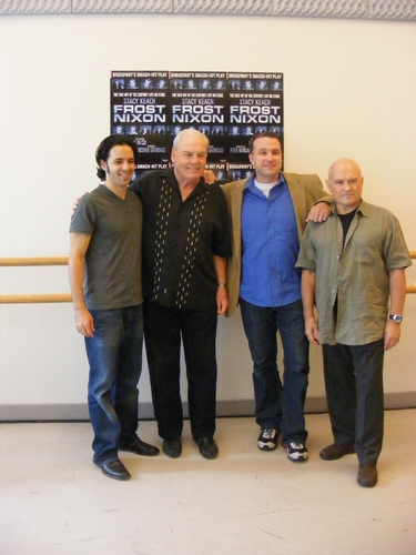 Noel Velez, Stacy Keach, Ted Koch and Stephen Rowe