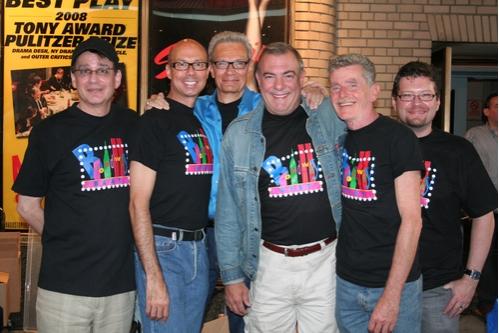 The Broadway Beat Gang, Sidney Meyer, Richie Ridge, Preston Ridge, Bradshaw Smith, John Scoullar and Jonathan Frank