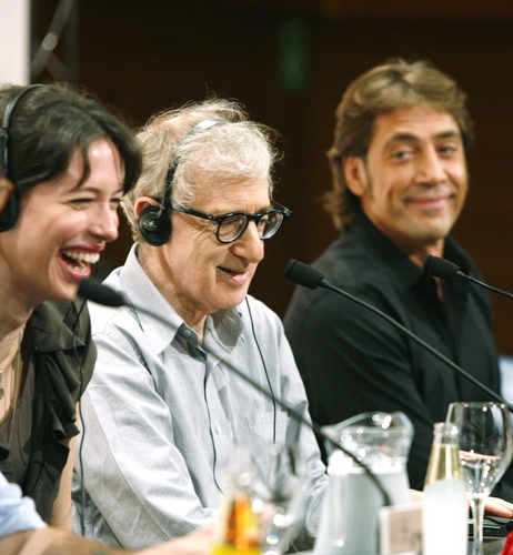 Rebecca Hall, Woody Allen and Javier Bardem