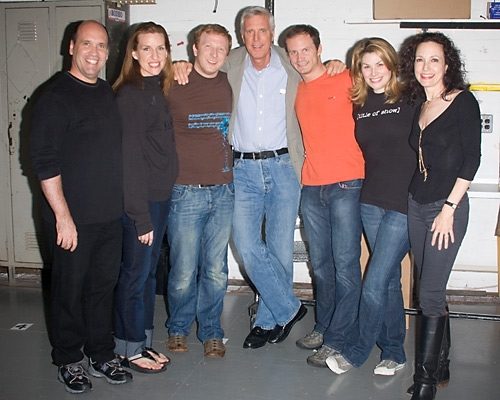 The cast with Ken Billington and Bebe Neuwirth