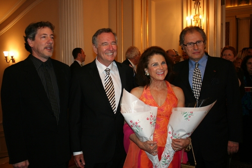 Michael Parva (director), Dan Gordon (playwright), Tovah Feldshuh, and Roman Halle
