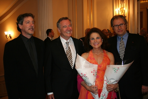 Michael Parva (director), Dan Gordon (playwright), Tovah Feldshuh, and Roman Haller