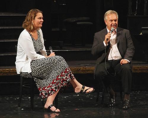 Moderator Adrienne Onofri and Walter Bobbie