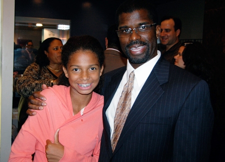 Executive Director Marshall Jones III with his daughter Sienna