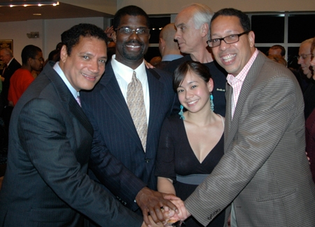 Artistic Director Ricardo Khan, Executive Director Marshall Jones III, Production Assistant Gemini Quintos and Board President Clifford Virgin III