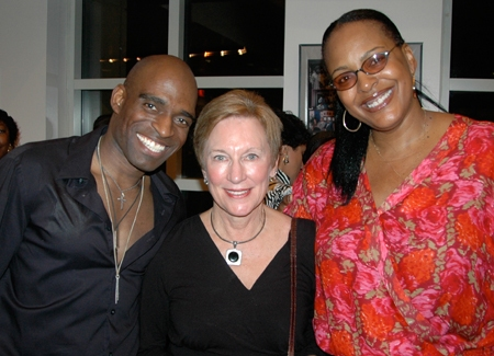 Derric Harris, Press Relations Director Barbara Martalus and Inga Ballard