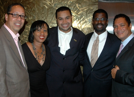 Clifford Virgin III, Monica Weeks, Rajendra Ramoon Maharaj, Marshall Jones III and Ricardo Khan