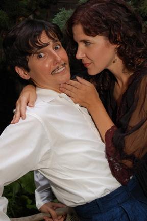 Shakespearean lovers: Virginia Baeta as Viola and Carey Urban as Olivia