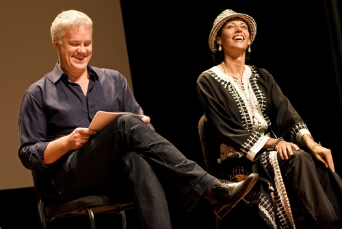 Tim Robbins and Suheir Hammad