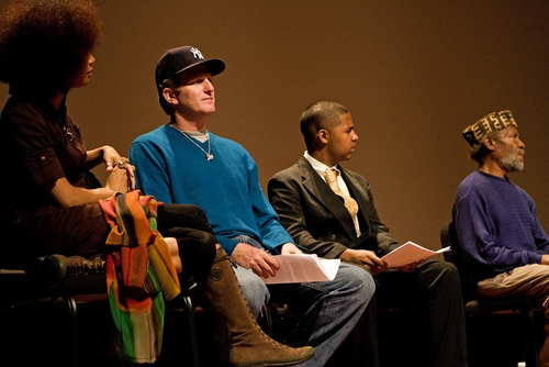Staceyann Chin, Michael Rapaport, Joshua Xavier and Abiodun Oyewole