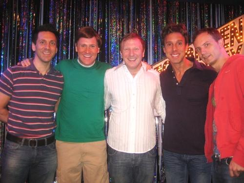 Michael Berresse, Jared Bradshaw,  Hunter Bell, Michael West and Jeff Bowen