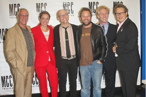 Robert LuPone, Elizabeth Marvel, William Cantler, Norbert Leo Butz, Blake West and Bernard Telsey