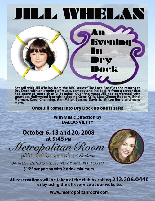 THE LOVE BOAT and AIRPLANE'S Jill Whelan Begins at Metropolitan Room Oct. 6