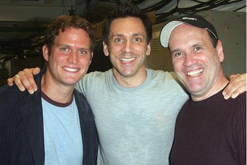 Steven Pasquale, Michael Berresse, and Larry Pressgrove
