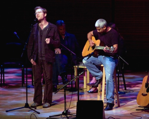 Anthony Rapp with Dave Matos