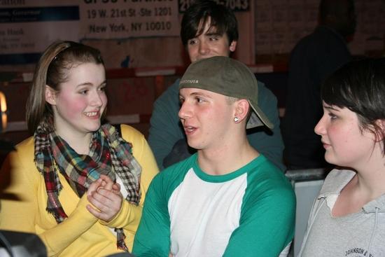 Caitlin Kinnunen, Gerard Canonico and Emma Hunton