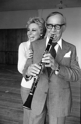 Mitzi Gaynor and Benny Goodman