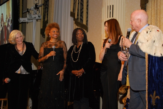 Betty Buckley, Leslie Uggams, Whoopi Goldberg, Donna Murphy and Gerald Schoenfeld