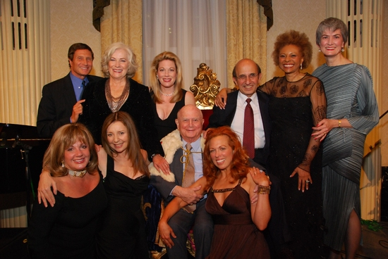 Producer Bill Haber, Betty Buckley, Marin Mazzie, Joel Klein, Leslie Uggams, Broadway League Chair Nina Lannan, Broadway League Executive Director Charlotte St. Martin, Donna Murphy, Gerald Schoenfeld and Carolee Carmello