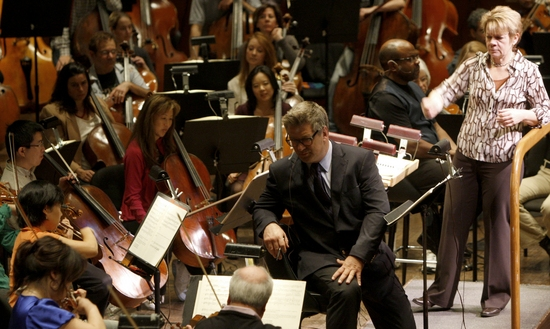 Alec Baldwin, Marin Alsop and New York Philharmonic