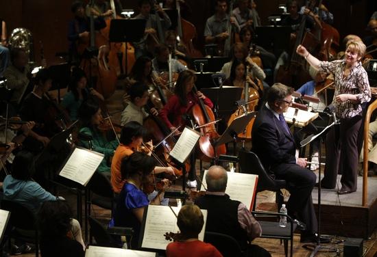 Alec Baldwin, Marin Alsop and New York Philharmonic Photo
