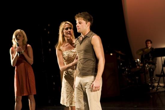Julie Tolivar, Caroline Doherty and Brian Letendre   at KICKIN' IT Broadway Gives Back!