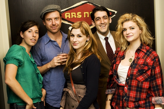 Carly Mensch, Lucas Near-Verbrugghe, Aya Cash, Evan Cabnet and Megan Ferguson