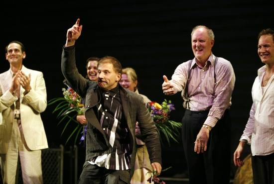 Simon McBurney and the cast