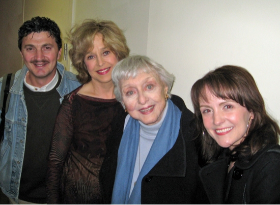 Paul Binotto, Jill Eikenberry, Celeste Holm and Betsy DiLellio