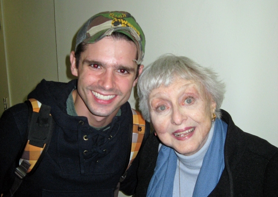 Photo Flash: Rob Reiner and Celeste Holm Visit ENTER LAUGHING