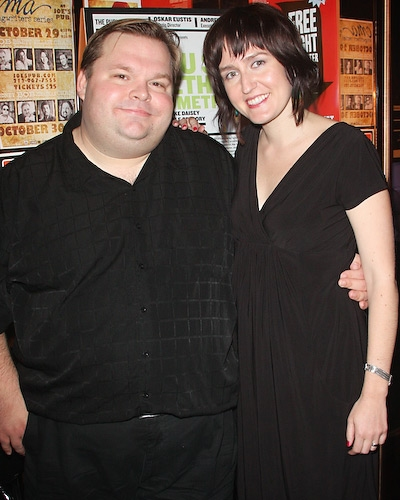 Creator and performer Mike Daisey with Director Jean-Michele Gregory
