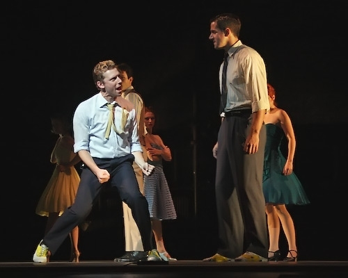 West Side Story - Cool with dancers Joey Calveri, Stuart Capps, Leo Ash Evans, Stepha Photo