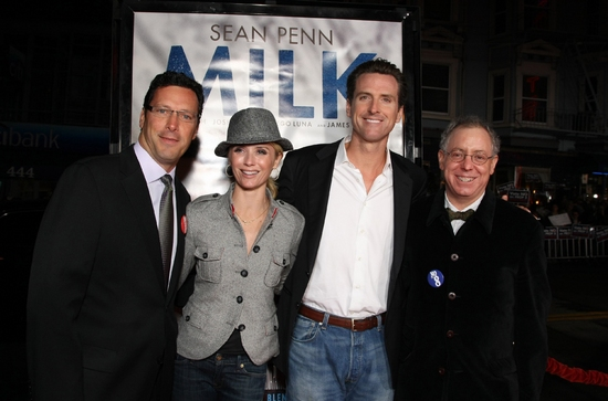 Andrew Karpen, Jennifer Newsom, Gavin Newsom (Mayor of San Francisco) and James Schamus