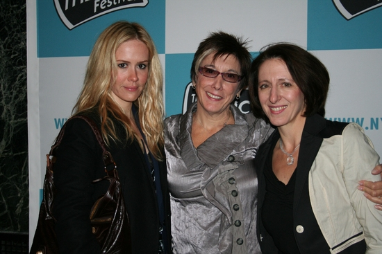 Sarah Paulson, Robyn Goodman and Anna Louizos