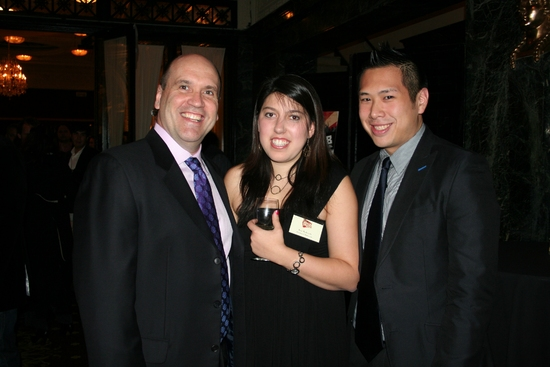 Larry Pressgrove, Eve Rybnick (NYMF Operations Associate) and Eric Louie (NYMF Senior Associate Producer)