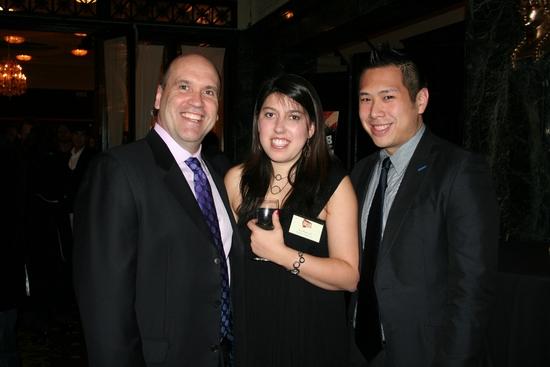 Larry Pressgrove, Eve Rybnick (NYMF Operations Associate) and Eric Louie (NYMF Senior Associate Producer)
