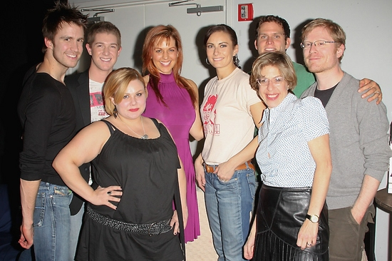 Gavin Creel, Eric Krop, Carly Jibson, Emily Drennan, Laura Benanti, Jackie Hoffman, Steven Pasquale, and Anthony Rapp