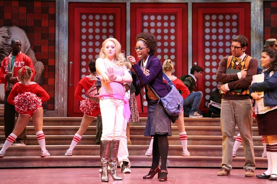 Sean Samuels (Zeke), Bailey Hanks (Sharpay), Krystal Joy Brown (Taylor), Dennis Necsary, Sam Kiernan and Joline Mujica