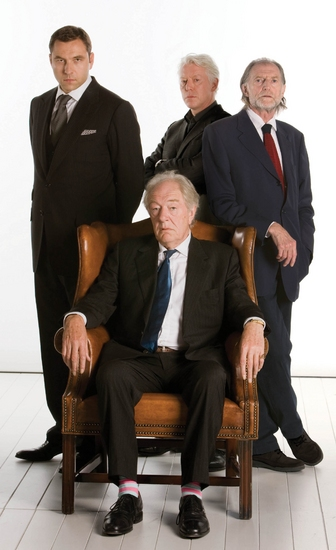 David Walliams, Nick Dunning, David Bradley and Michael Gambon