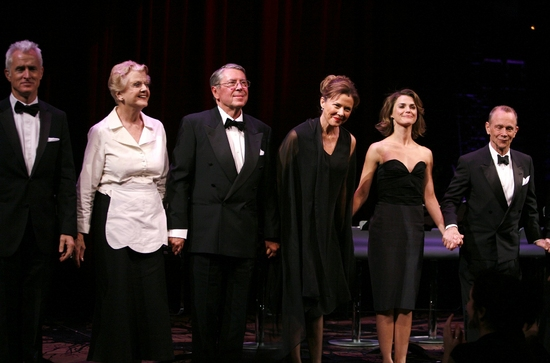 John Slattery, Angela Lansbury, Brian Bedford, Annette Bening, Keri Russell and Joel Grey at ALL ABOUT EVE Benefit Curtain Call